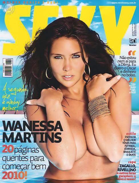 Confira as fotos da deliciosa modelo, Wanessa Martins, capa da Sexy de janeiro de 2010!