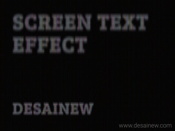 LED Screen Text Effect Tutorial in Gimp Adobe Photoshop