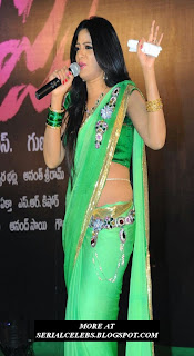 Udaya Bhanu in low hip saree
