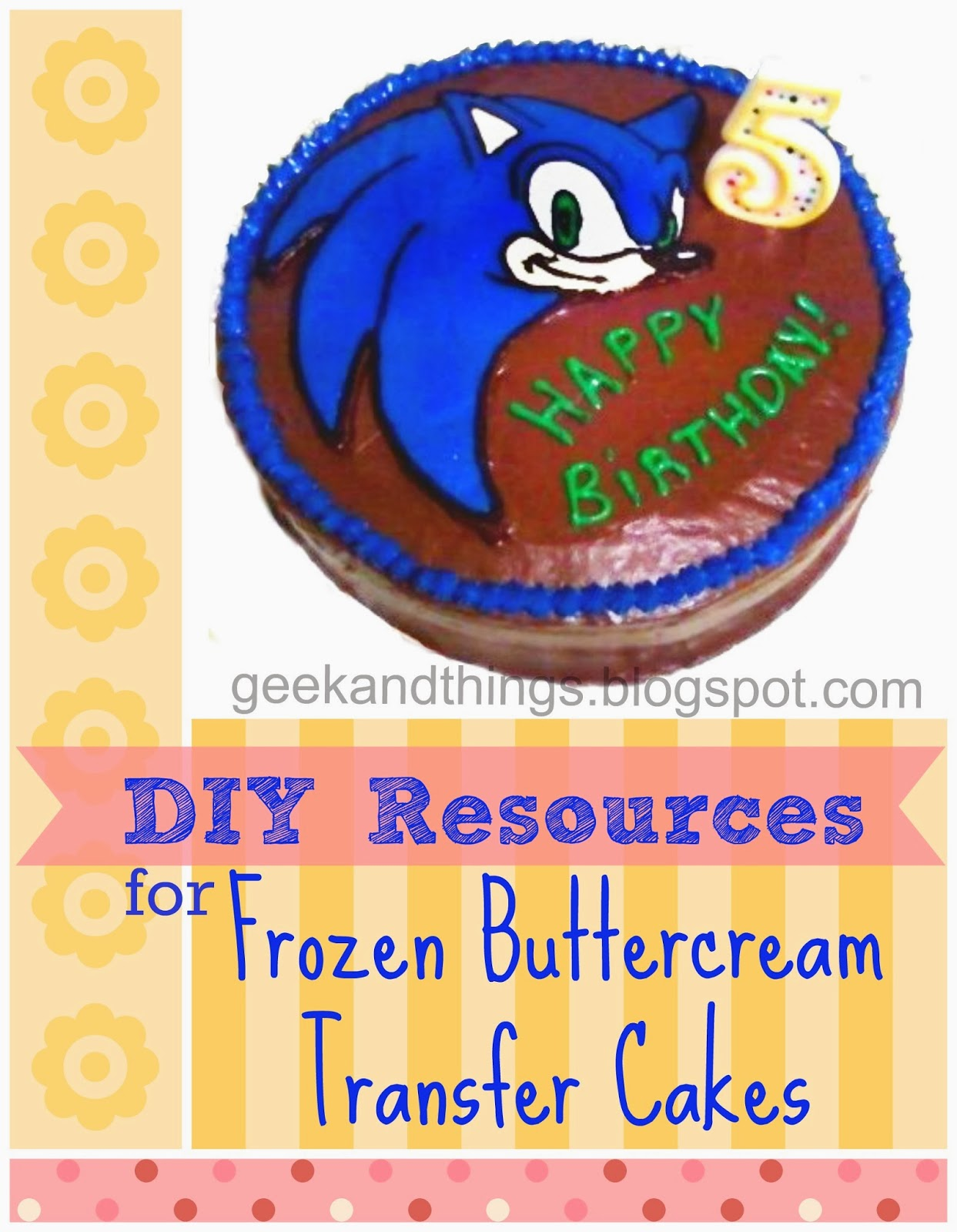 DIY frozen buttercream Transfer FBCT Cakes