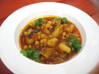Potato and Chickpea Curry with Tomatoes and Tamarind