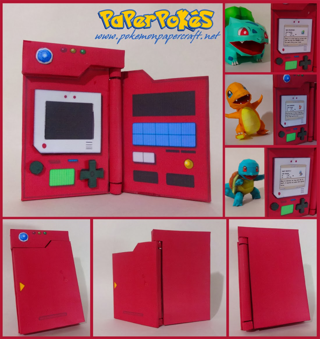 Generatin 1 Pokedex Papercraft