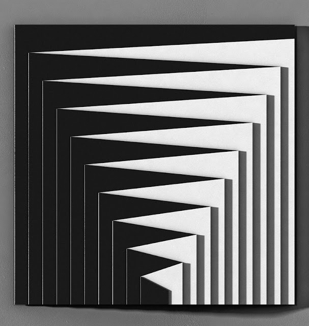 optical art, black and white, stripes art, 60's art, minimal art,