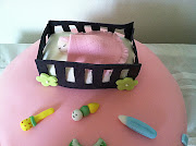 Girl Baby shower Cake. This cake for my friend suprise baby shower party. (girl baby shower)