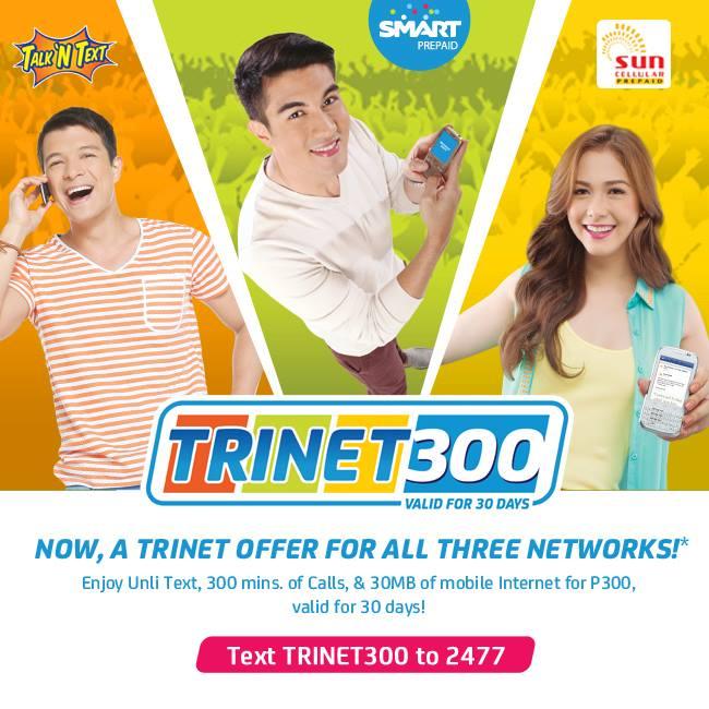TRINET 100: Jerry Rosales (TNT), Luis manzano (Smart) and Maja
