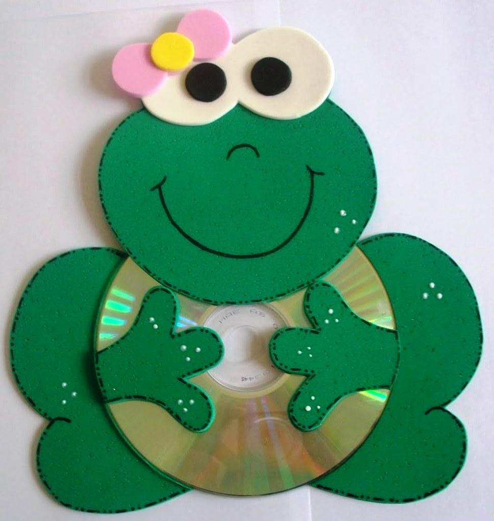 Cdi centro de desenvolvimento 1 infancia bichinhos em - Manualidades con cd usados ...