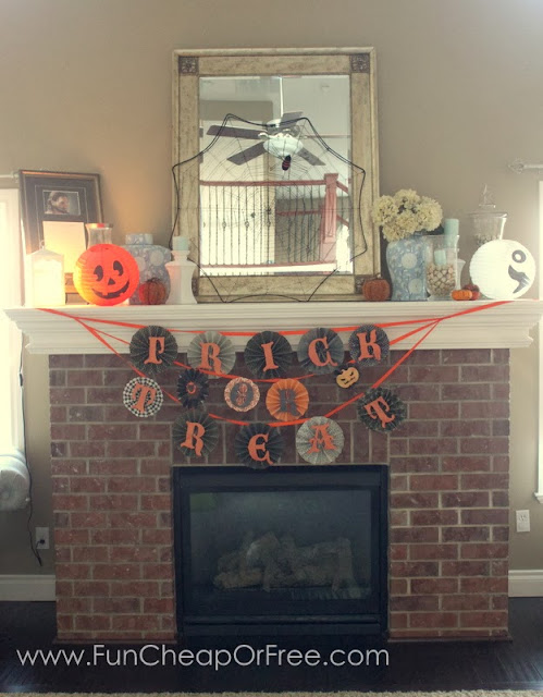 Halloween mantel from Fun Cheap or Free