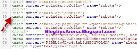 noindex mobile URL