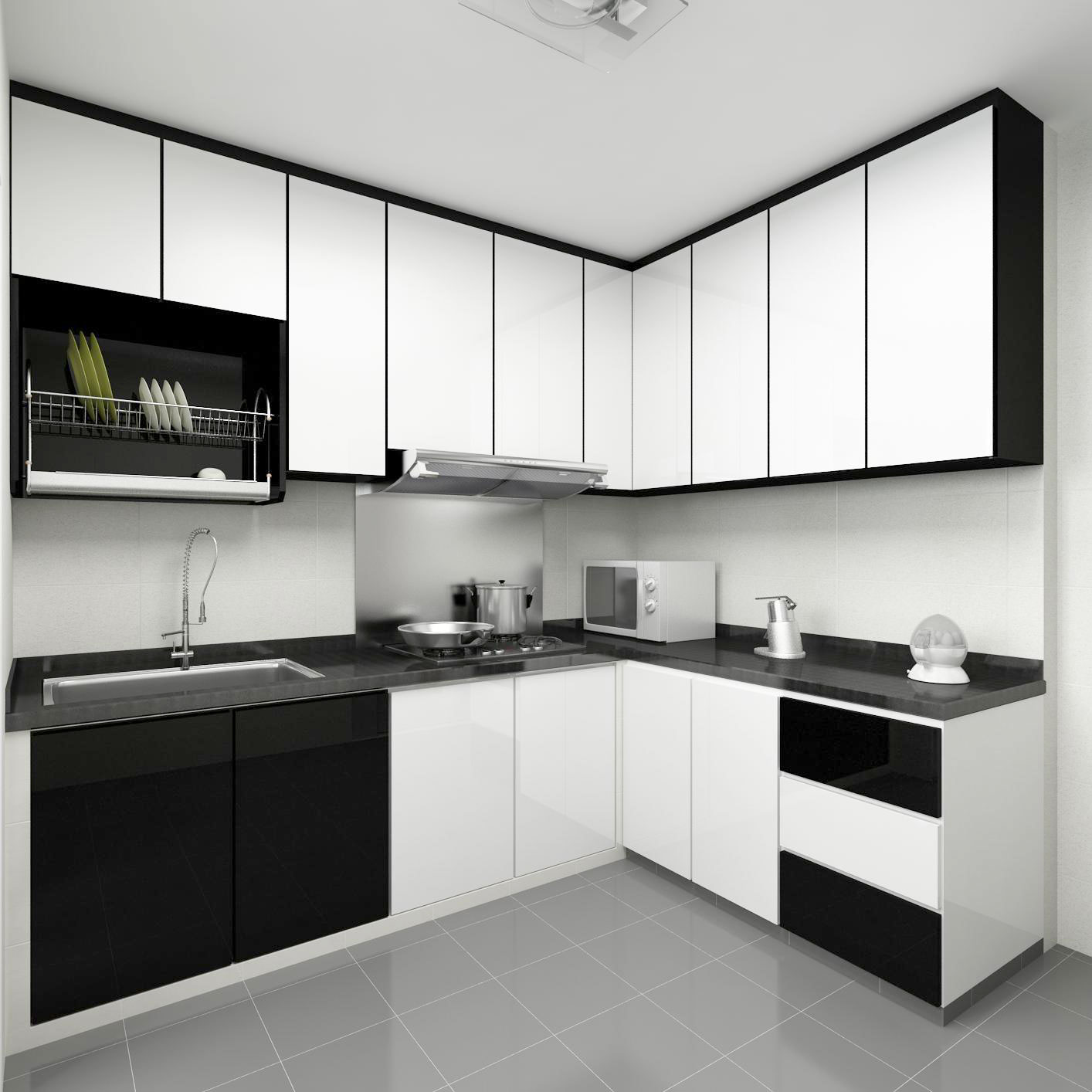 ... Modular Kitchen Designs Black And White. IN A PIGEON HOLE 3D DRAWINGS  2nd DRAFT