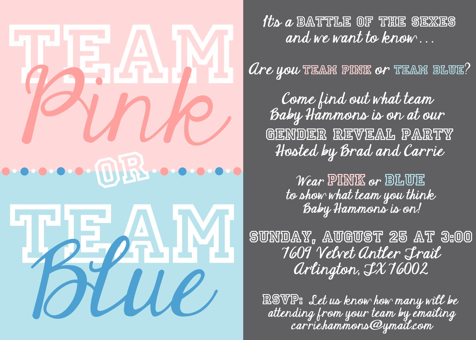 Free Printable Gender Reveal Party Invitations as nice invitations example