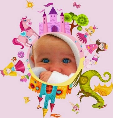 marco de fotos princesa