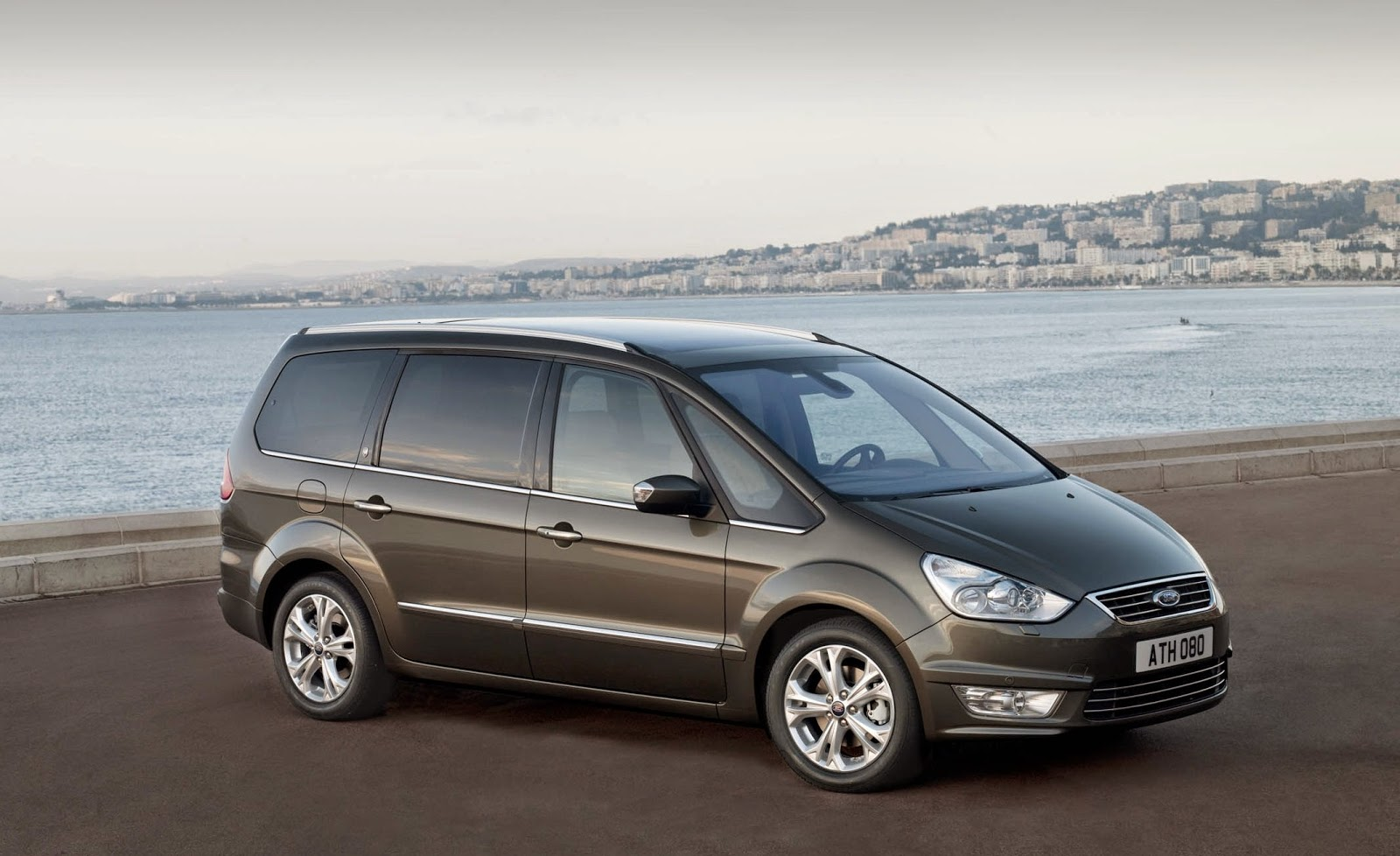 ford galaxy - editorial use - parked up by the sea - car review site favoouite