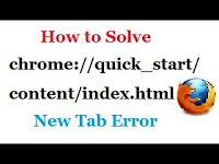 How to solve chrome://quick_start/content/index.html