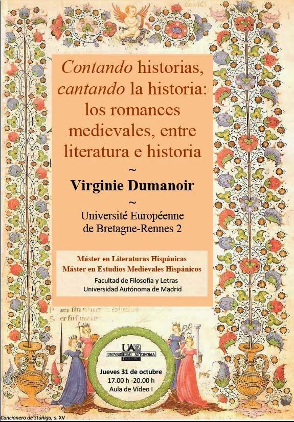 Virginie Dumanoir, Contando historias, cantando la historia: los romances medievales, Máster en literaturas Hispánicas
