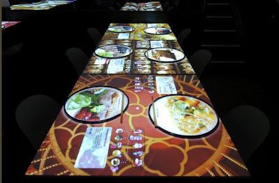 Interactive menu restaurant, London, UK