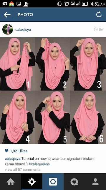 cara pakai shawl 8