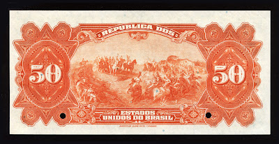 Brasil Brazil 50 Mil Réis Cédula banknote