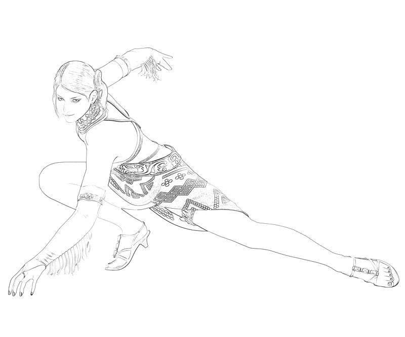 tekken coloring pages - tekken tag tournament zafina character surfing