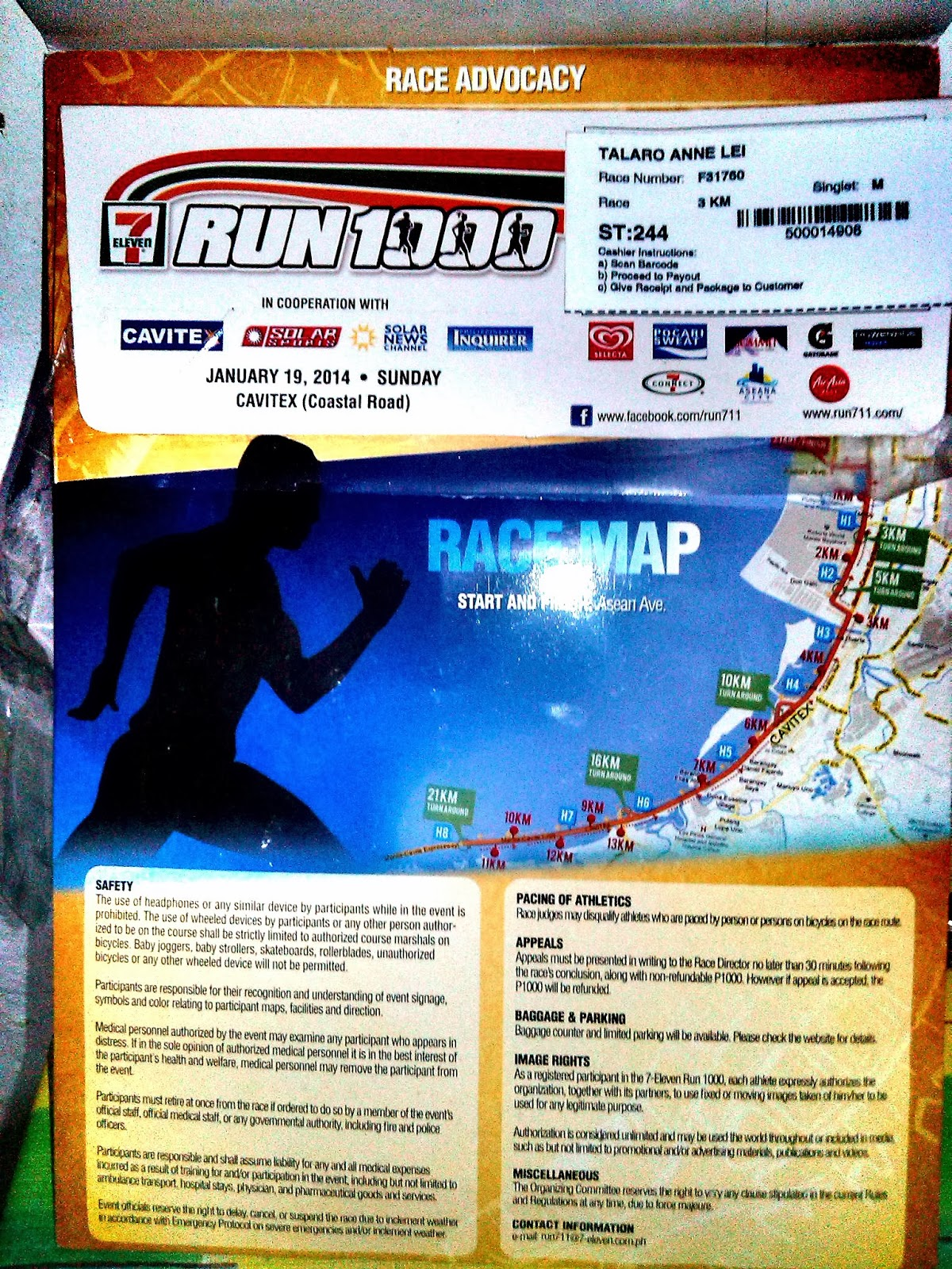 7-11 race kit run 1000