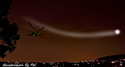 Helicopter Chasing Strange UFO Orb 5-14-14