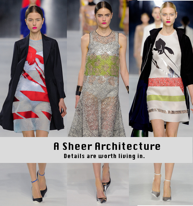 Dior Cruise 2014 - Sheer Dresses - Runway to Style Freaks Fashion Blog