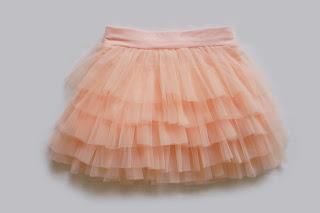 Детская юбка из нейлон-шифона