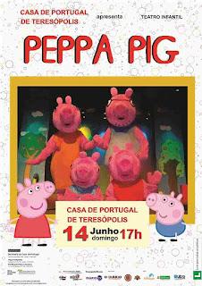Peppa Pig neste domingo em Teresópolis