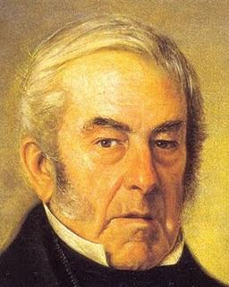 'Don Juan Martín de Pueyrredón' (1776-1850). Oleo de su hijo el maestro don Prilidiano Pueyrredón, tomado de elmisteriodeprilidiano.blogspot.com