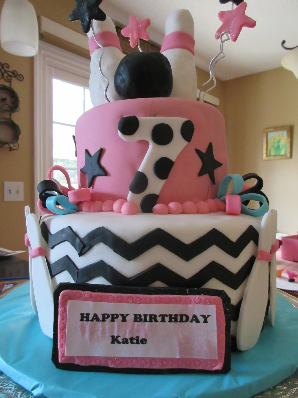 Bowling Ball Birthday Cake Cakes By Mary Ann