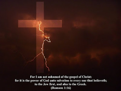 Romans 1:16 Cross Background