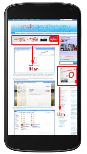 Cara Menampilkan Iklan di Tampilan Mobille 1