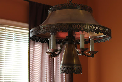 Pre-renovation light fixture