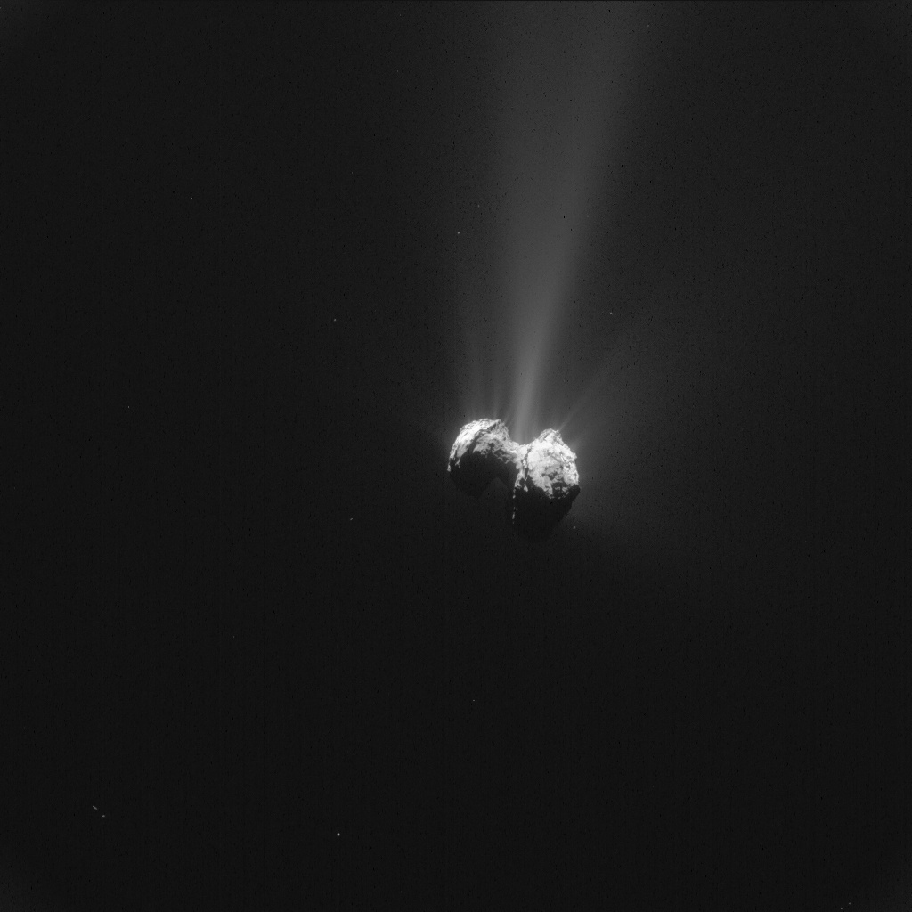 saaya suzuki 67p Image above: Single frame enhanced NAVCAM image of Comet 67P/C-G taken on 21 September 2015. Image Credits: ESA/Rosetta/NAVCAM – CC BY-SA IGO 3.0.