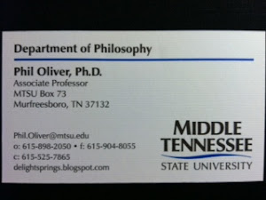 Phil.Oliver@mtsu.edu, 300 James Union Bldg OFFICE HOURS Spring 2018: TTh 11:15-12:45 & by appt.