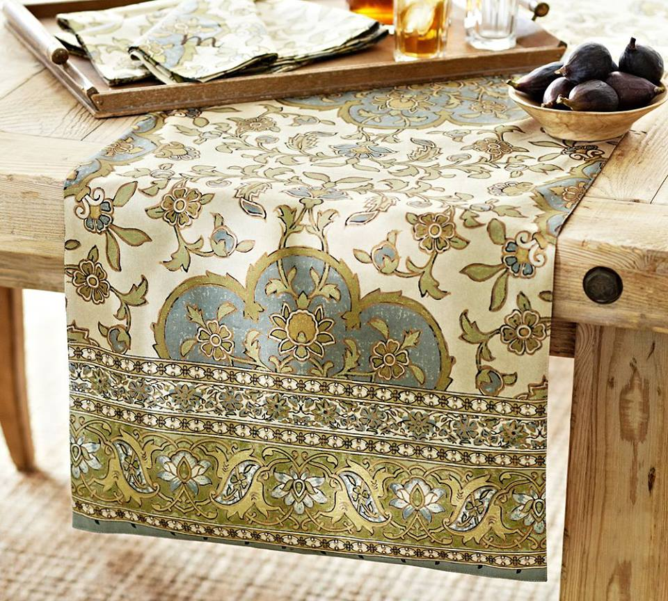 A Beautiful Table Runner From Pottery Barn