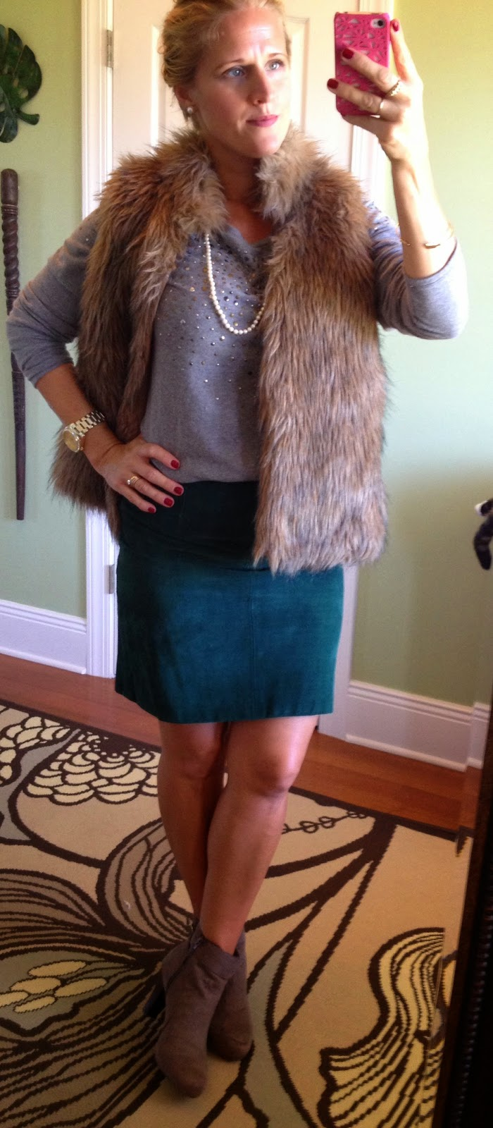 Suede Skirt for Fall and Winter