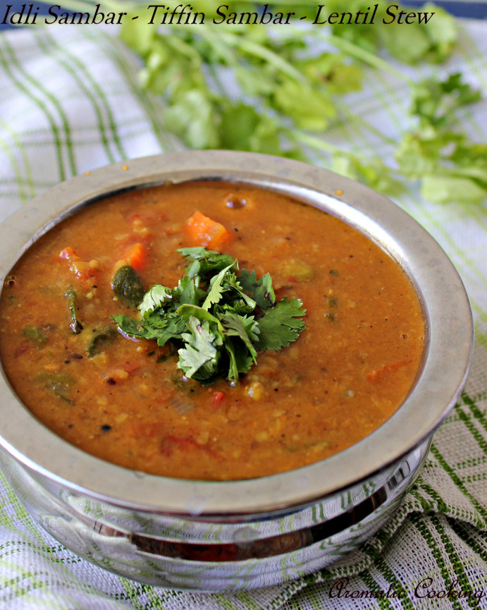 Aromatic CookingIdli Sambar/ Tiffin Sambar/ Vegetable Lentil Stew