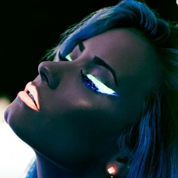 Neon lights behid scenes