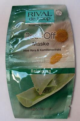 Rossmann, Rival de Loop, Peel - Off Maske Aloe Vera & Kamillenextrakt (Maseczka do twarzy peel - off)