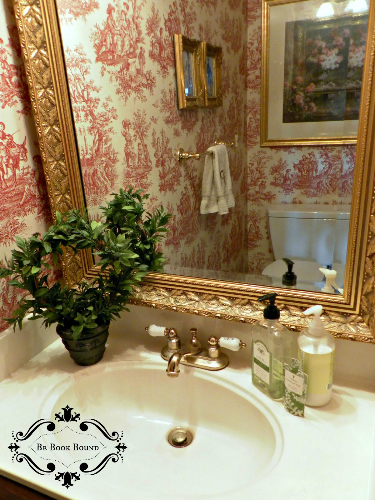 Be Book Bound Pride and Prejudice A Toile Powder Room