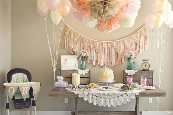 Shady lane style shabby chic party - Deco anniversaire chic ...