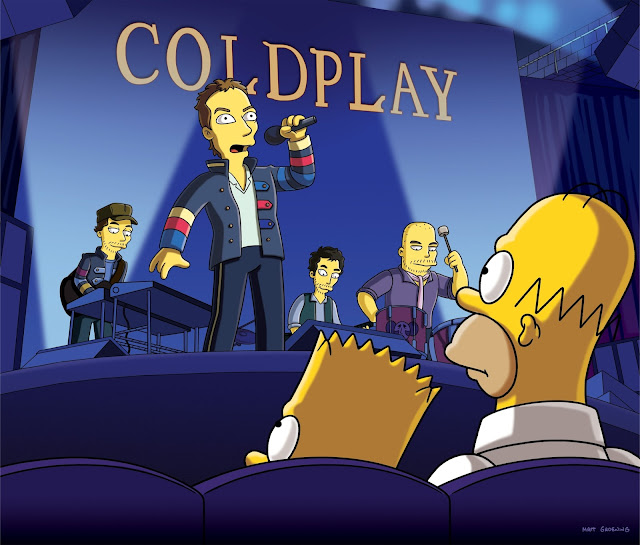 simpsons coldplay appearance