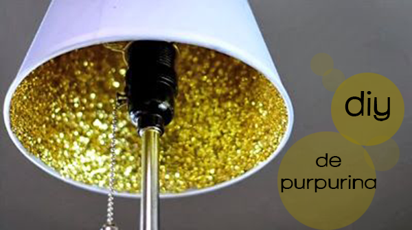 DIY glitter lamp - diy purpurina lampara