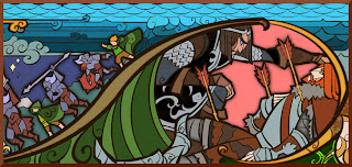 Lord of the Rings stained glass window illustration
