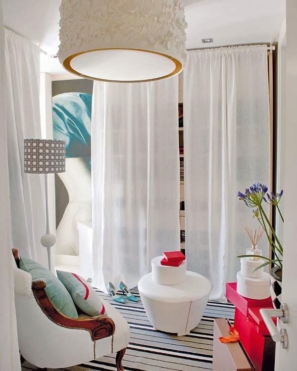 Retro y con encanto sin puertas for Armarios con cortinas