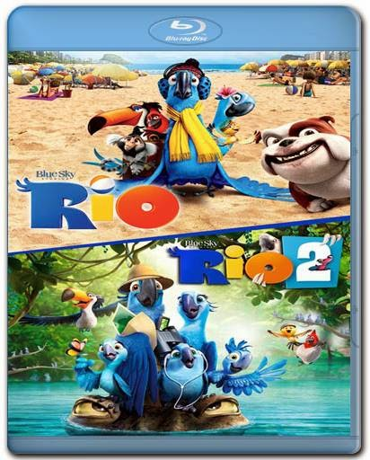 Rio 1 e 2 720p + 1080p 3D + AVI Dual Audio BDRip