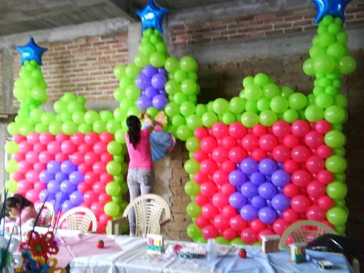 decoracin con globos para fiestas infantiles