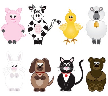 stock illustration cartoon animals