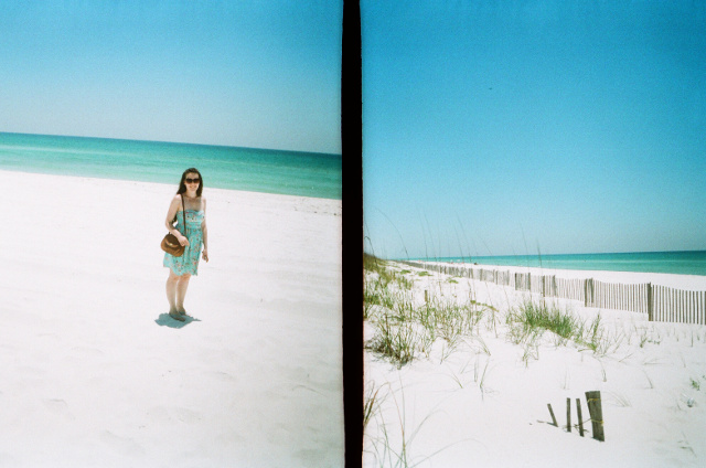 Pensacola beach on film
