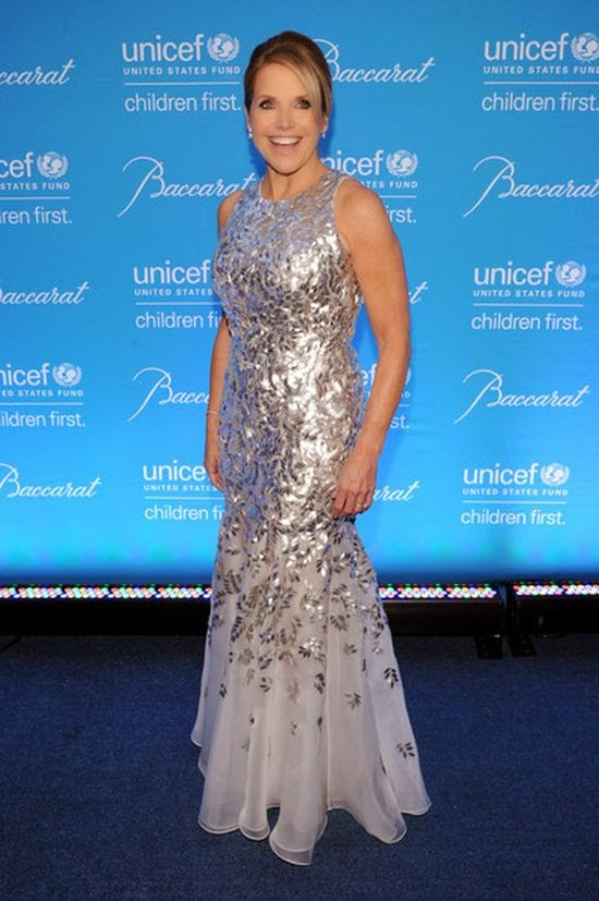 Katrina Bowden and Heather Graham might have been the star of 10th Annual UNICEF gala, but Katie Couric stole the blue carpet from her tonight appearance. We adore when someone totally unexpected just knocks our socks off and the 57-year-old did just that at New York, USA on Tuesday, November 2, 2014.